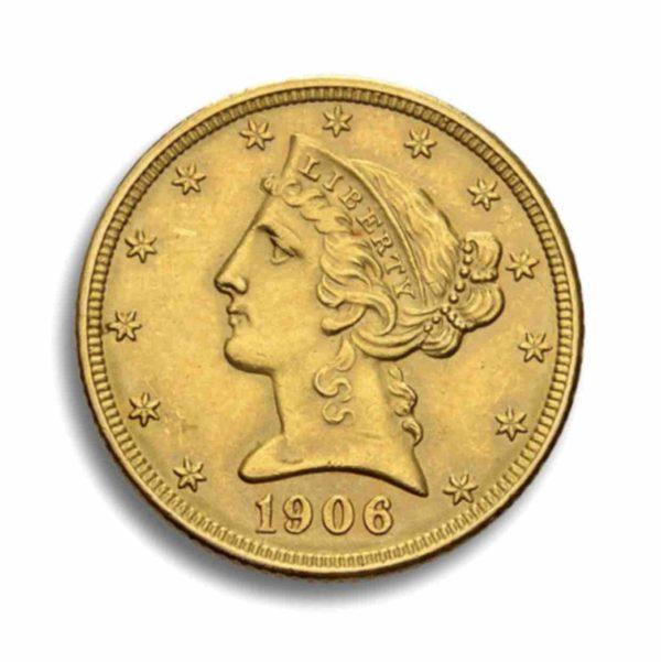 5 Dollar Liberty Head Rueckseite