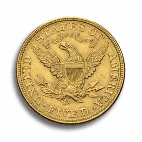 5 Dollar Liberty Head Vorderseite