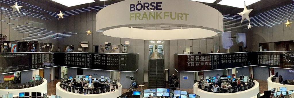 Blick auf das Frankfurter Börsenparkett
