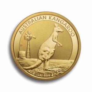 Australian Kangaroo 1/4 Unze Rueckseite