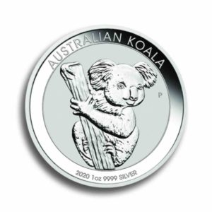 Australien Koala 1 Unze Silber Rueckseite