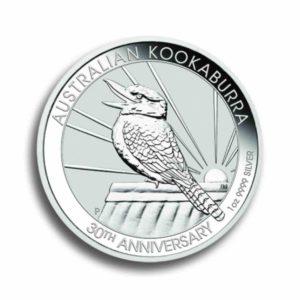 Australien Kookaburra 1 Unze Silber Rueckseite