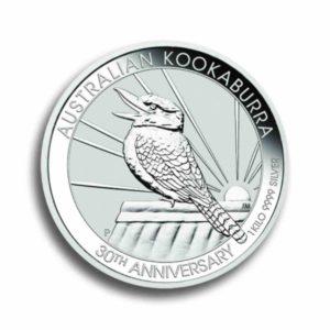 Australien Kookaburra 1 kg Silber Rueckseite
