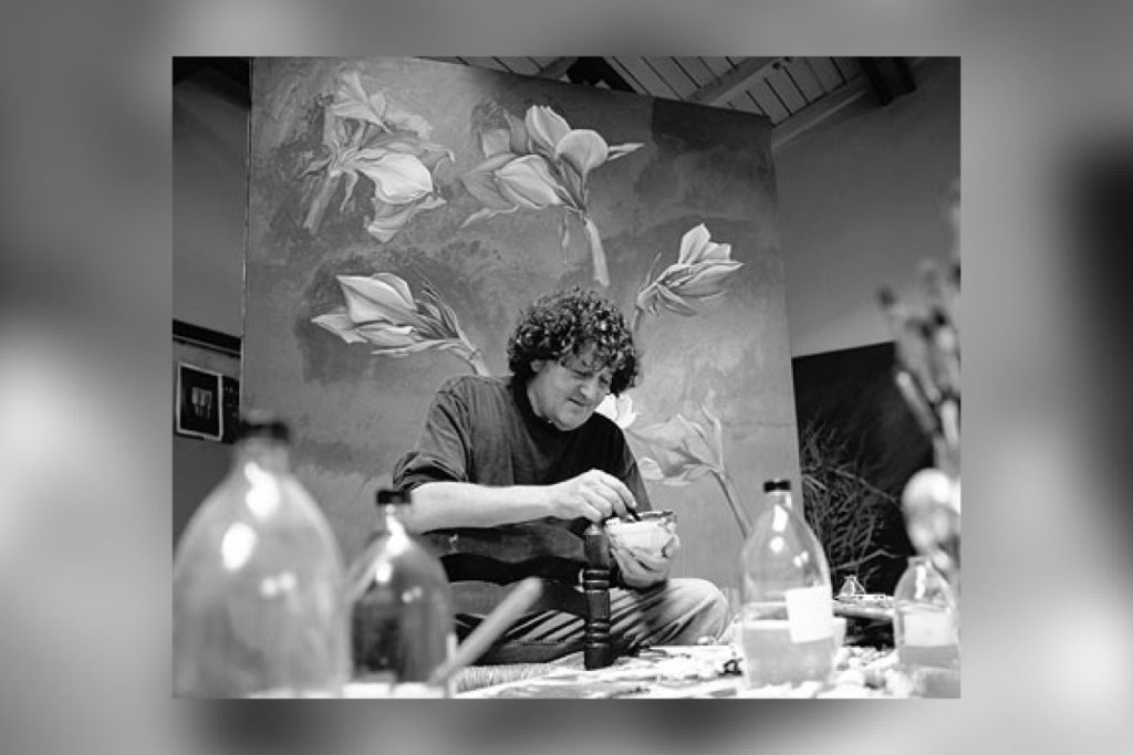 Der Künstler Bruno Bruni beim Arbeiten