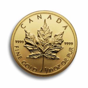 Kanada Maple Leaf 1/10 Unze Rueckseite