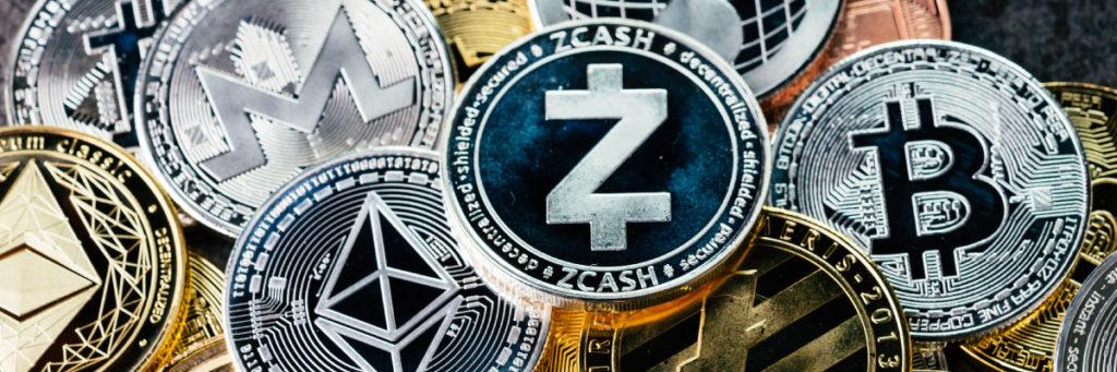 Kryptowährung in symbolischer Münzform