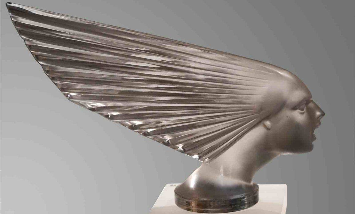 Figur aus Glas von Lalique