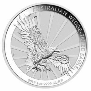 Wedge Tailed Eagle 1 Unze Silber Rueckseite