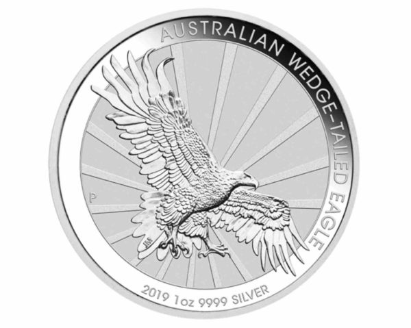 Wedge Tailed Eagle 1 Unze Silber Rueckseite