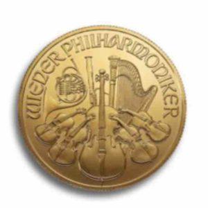 Wiener Philharmoniker 1/10 Unze Rueckseite