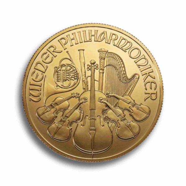 Wiener Philharmoniker 1/4 Unze Rueckseite
