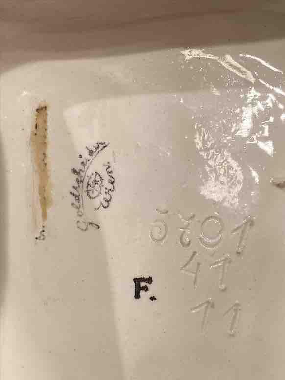 Stempel der Porzellanmanufaktur Goldscheider