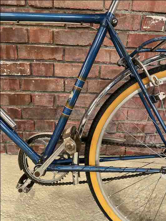 Hinteransicht des Miele Fahrrads