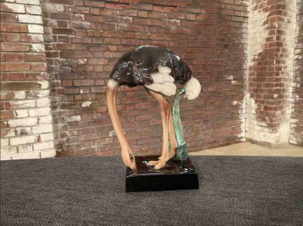 Bunter Straussenvogel aus Porzellan
