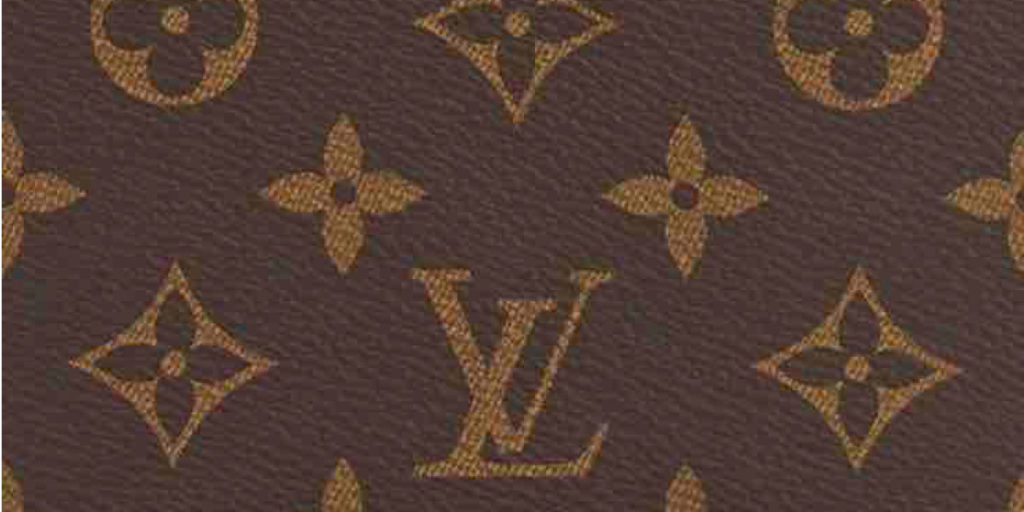 Muster mit Logo von Louis Vuitton