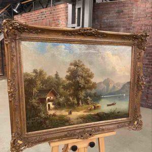 Gemälde mit Seeblick