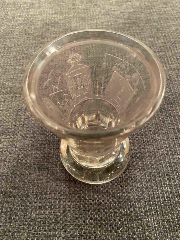 Trinkglas von oben