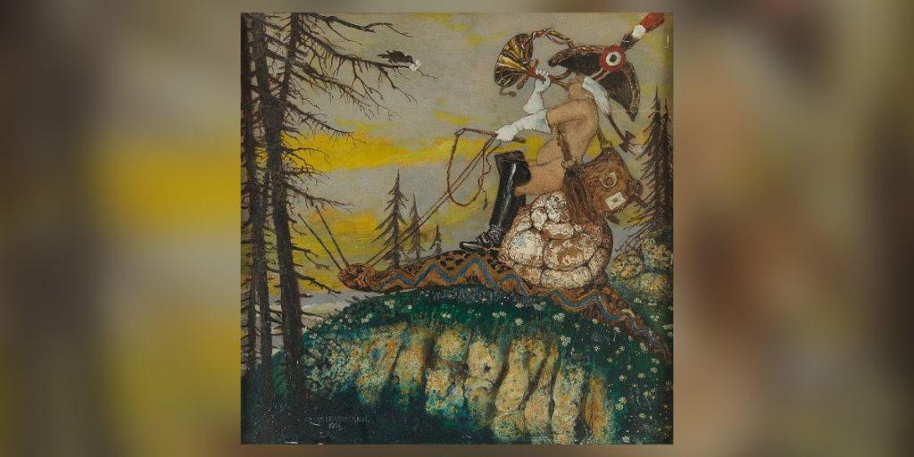 Gemälde von Strathmann mit Schneckenpost
