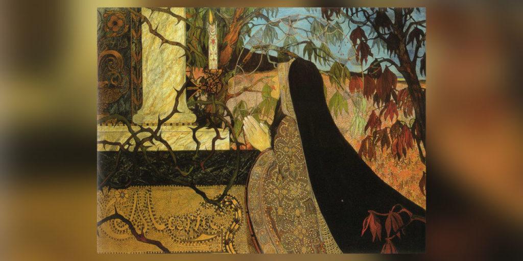 Buntes Gemälde von Carl Strathmann