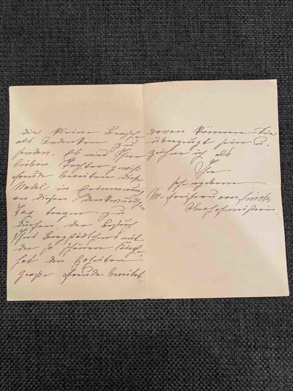 Brief zu der Brosche