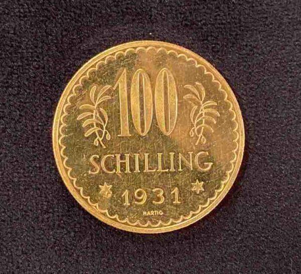 Goldene Münze Schilling