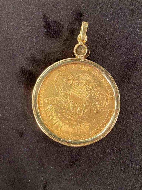 Rückseite der goldenen Münze