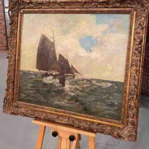 Gemälde auf Staffelei
