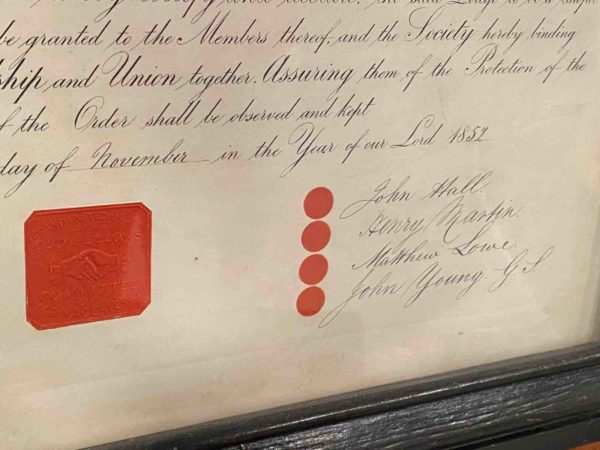 Siegel auf der Urkunde