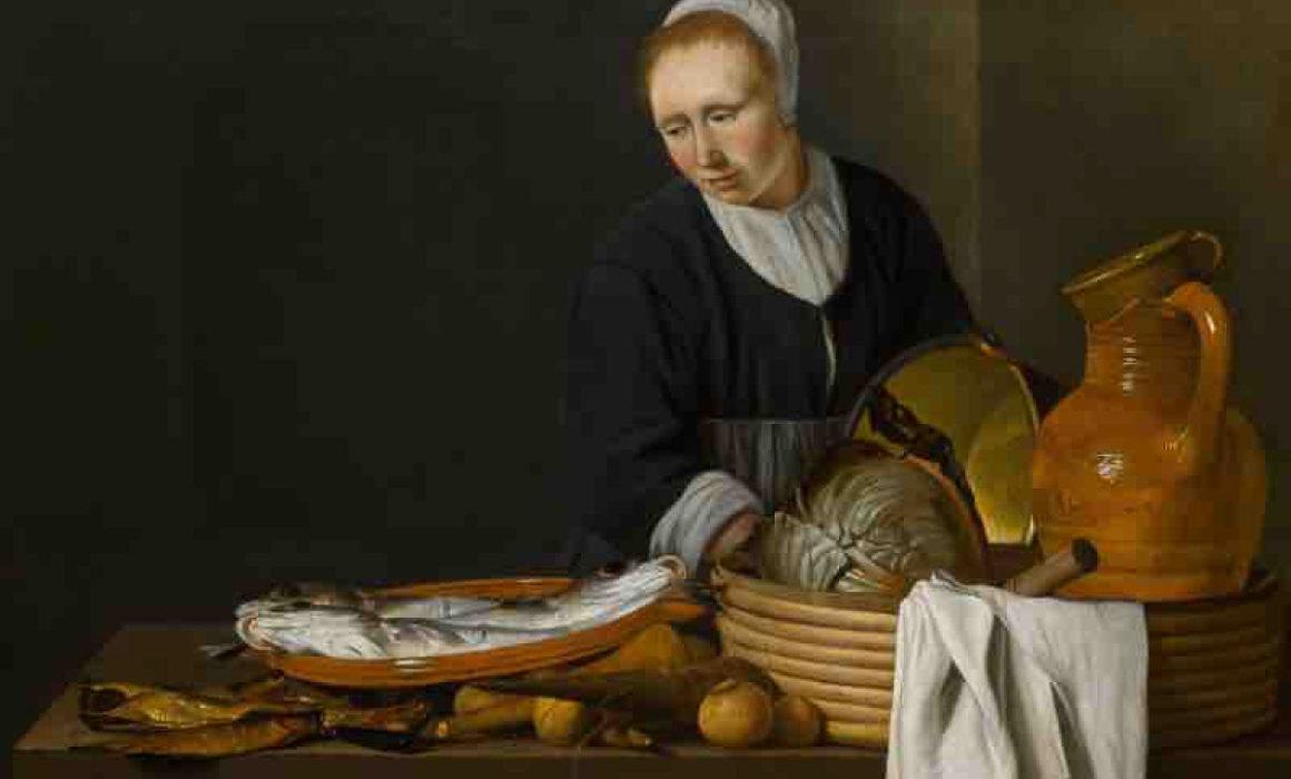Küchenstillleben als Gemälde