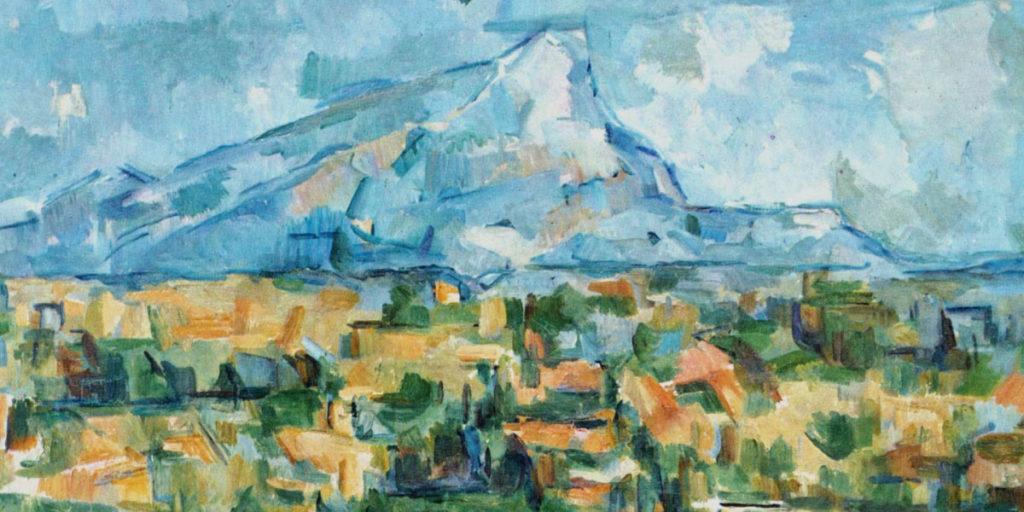 Landschaftsmotiv von Cezanne