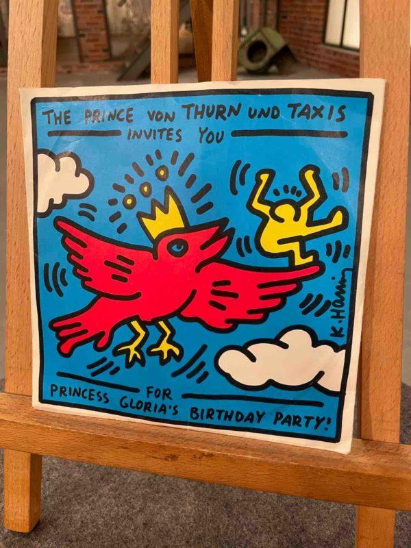 Blaues Cover einer Harings-Platte