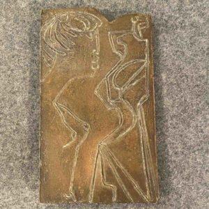 Bildplatte aus Bronze