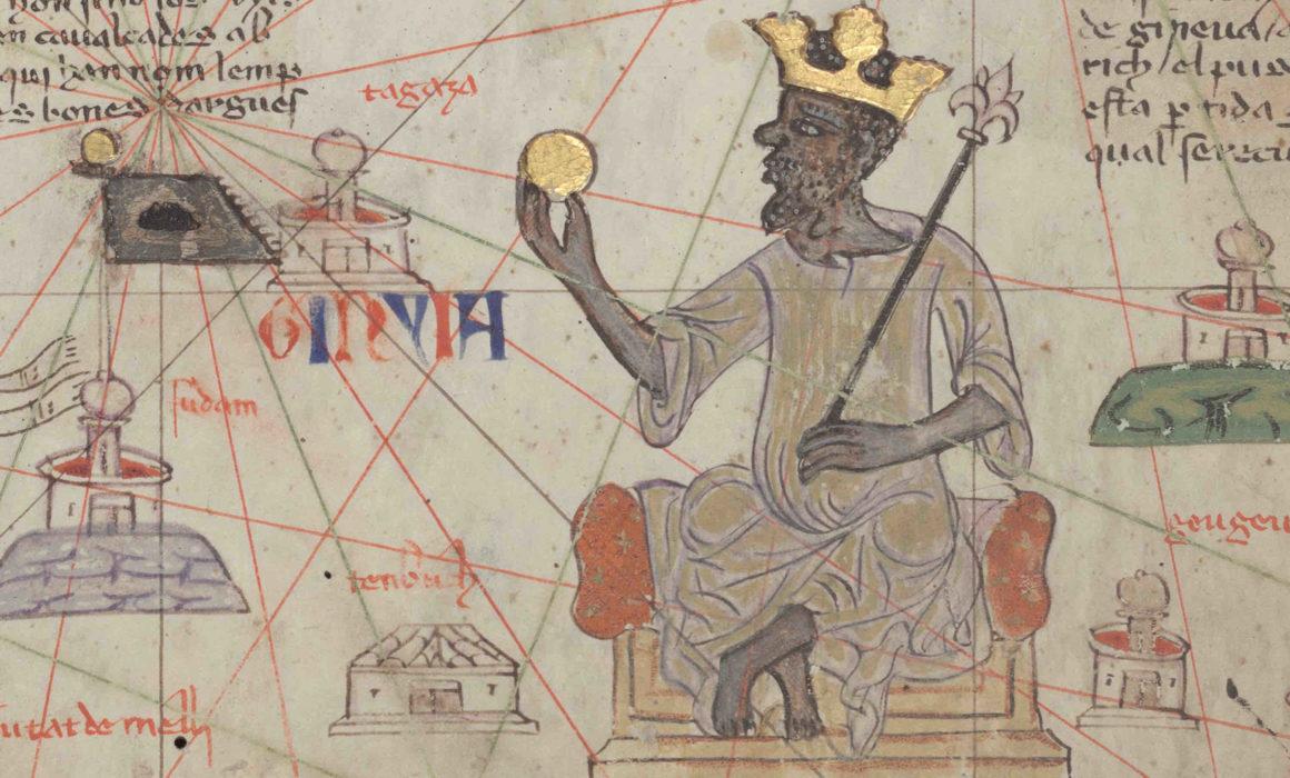 Mansa Musa mit goldener Kugel