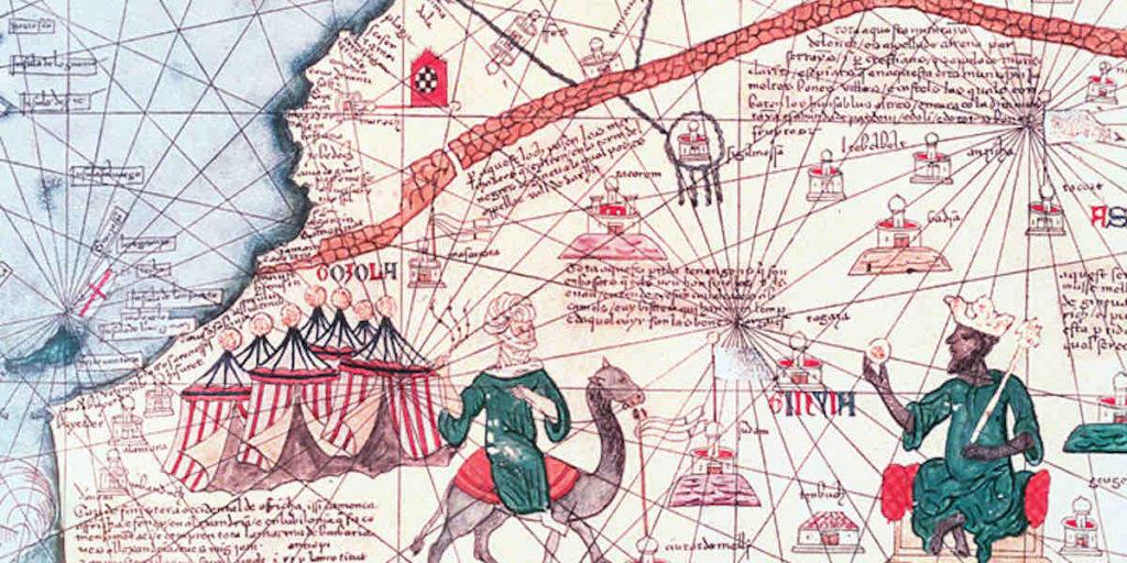Katalanischer Atlas mit Mansa Musa
