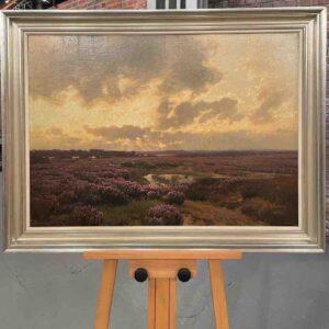 Gemälde mit Heidelandschaft
