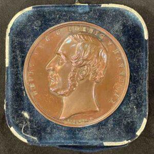 Kupfer Medaille in blauem Kästchen
